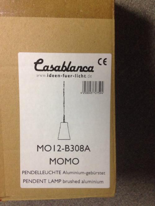Casablanca Pendelleuchte MOMO MO12-B308A